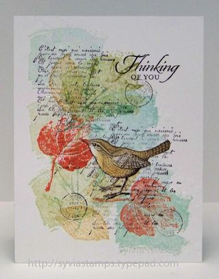 Sylvias Stamping Corner Thinking Of You And Wishing You
