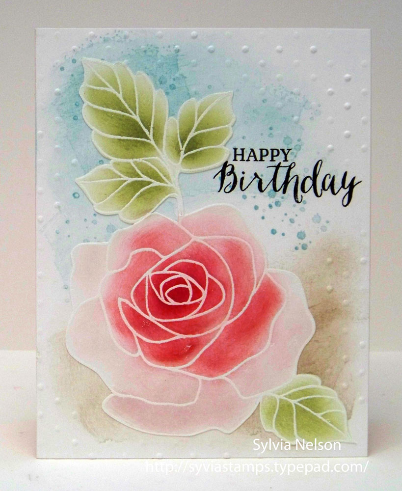 Sylvias Stamping Corner Another Rose Birthday Cardlots Of